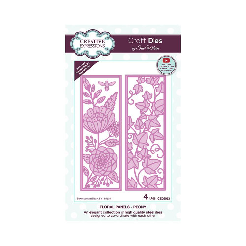 Creative Expressions Floral Panel Dies Peony