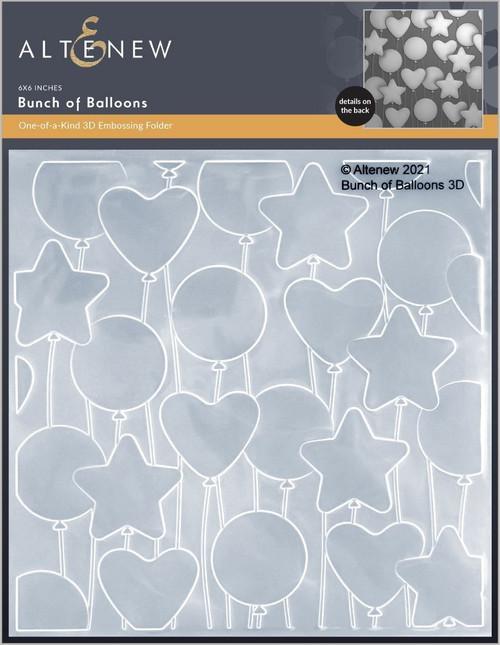 Altenew 3D Embossing Folder Bunch of Balloons