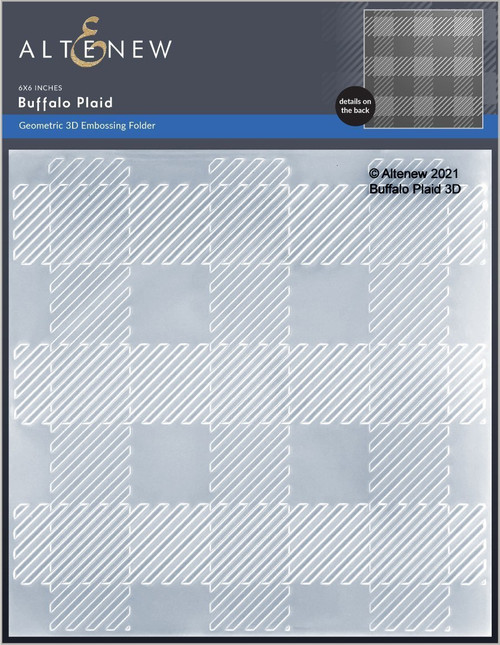 Altenew 3D Embossing Folder Buffalo Plaid