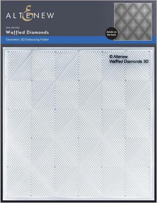 Altenew 3D Embossing Folder Waffled Diamonds