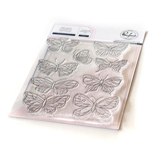 Pinkfresh Studio Small Butterflies Stamp