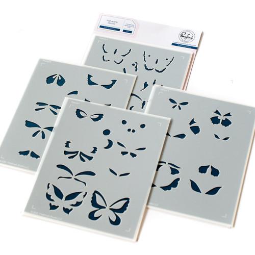 Pinkfresh Studio Small Butterflies Stencil Set