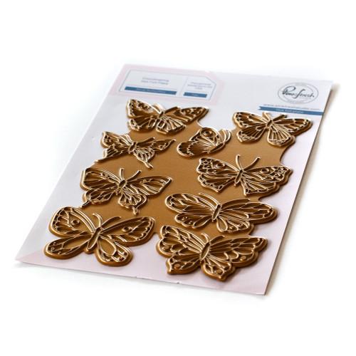 Pinkfresh Studio Small Butterflies Hot Foil Plate