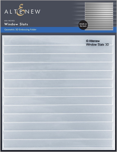Altenew Window Slats 3D Embossing Folder
