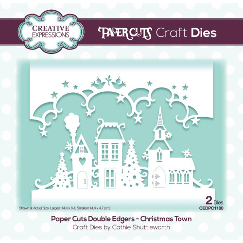 Creative Expressions Die Paper Cuts Christmas Town Double Edger