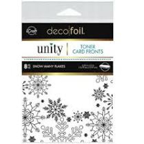 Thermoweb Toner Card Fronts by Unity Stamps Snow Many Flakes