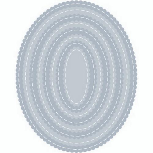 Tutti Designs Scalloped Stitched Nesting Ovals