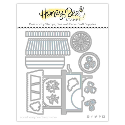 Honey Bee Honey Cuts Lovely Layers Market Cart Builder set