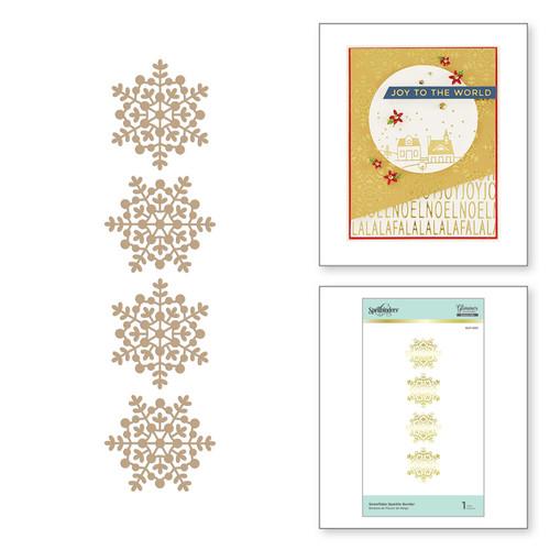 Spellbinders Glimmer Hot Foil Plate Snowflake Sparkle Borders
