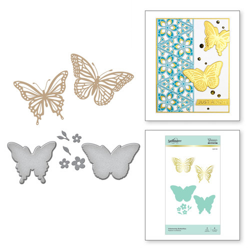 Spellbinders Glimmer Glimmering Butterflies Hot Foil Plate & Die set