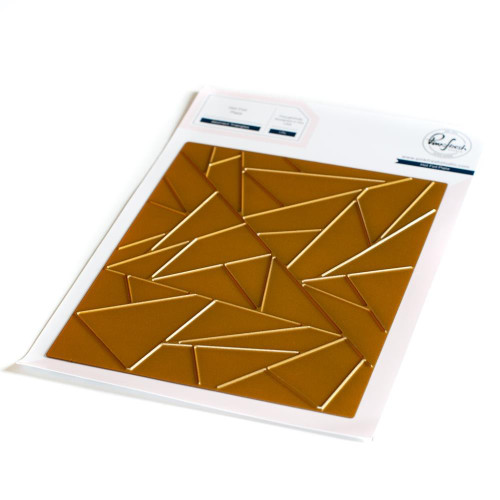 Pinkfresh Studio Hot Foil Plate Abstract Triangles