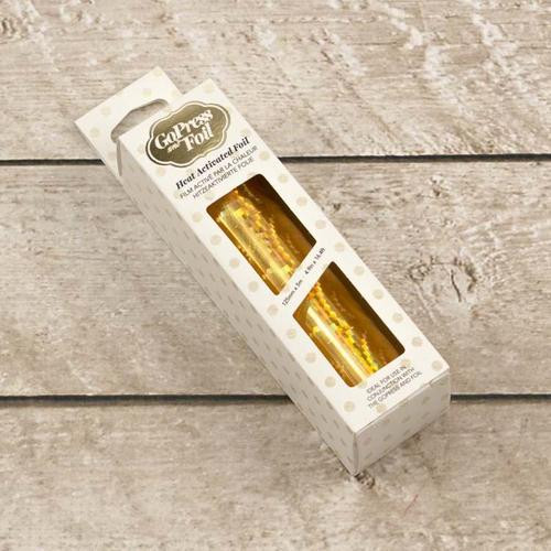Couture Creations Gold Iridescent Spiral Hot Foil
