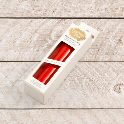 Couture Creations Red Orange Iridescent Hot Foil