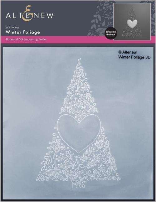 Altenew 3D Embossing Folder Winter Foliage