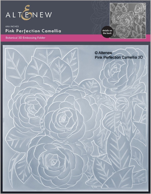 Altenew 3D Embossing Folder Pink Perfection Camelia