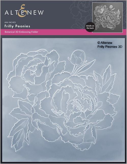 Altenew 3D Embossing Folder Frilly Peonies