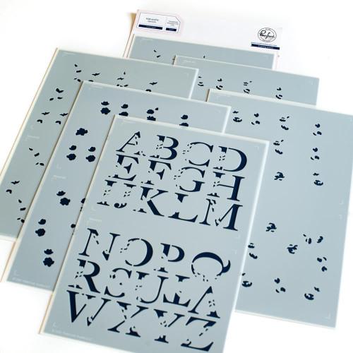 Pinkfresh Studio Inna's Alphabet Stencil Set