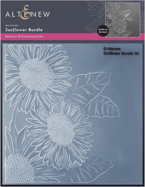 Altenew Sunflower Bundle 3D Embossing Folder