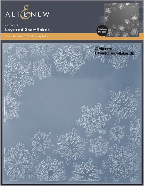 Altenew Layered Snowflakes 3D Embossing Folder