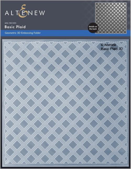 Altenew Basic Plaid 3D Embossing Folder