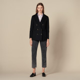 Double breasted wool blazer - Black