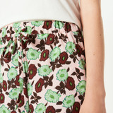 Flowing All Over Print Shorts - Ash Pink