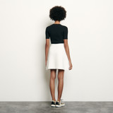 Short knitted skirt - White