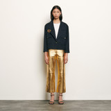 Short tailored jacket with patch - Navy