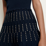 Knitted dress with lurex details - Navy