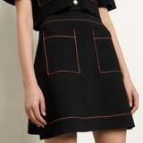 Short knitted skirt - Black
