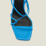 Blue sandals with narrow straps - Blue