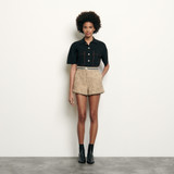 Tweed shorts  - Beige