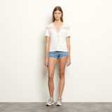 T shirt with lace - White