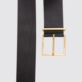 Sandro wide black belt leather