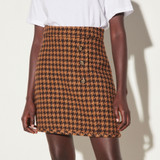 Short tweed skirt - Brown