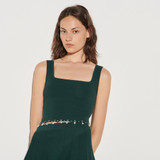 Sandro Knitted Cropped Top Green