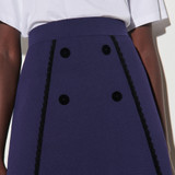 Sandro Paris Women's Double-breasted A-line skirt - Navy