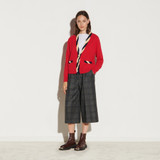 Sandro Paris Women's Cropped Cashmere and Wool Cardigan