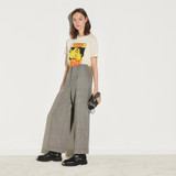 High waist wide leg trousers - Multiclr