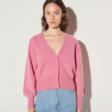 Sandro Happy Pink Knitted Cardigan