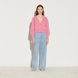 Wool twinset cardigan - Pink
