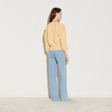 Wool twinset cardigan - Yellow