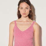 Knitted twinset top - Pink