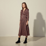Long printed dress - Multiclr