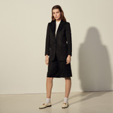 Jacquard tailored jacket - Black
