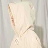 Nylon jacket with hood - Beige