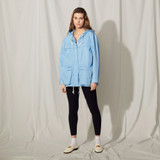 Nylon jacket with hood - Blue