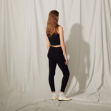 Knit leggings with embroidery - Navy