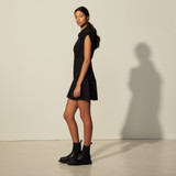 Short sleeveless dress - Black
