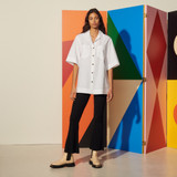 Oversized poplin shirt - White